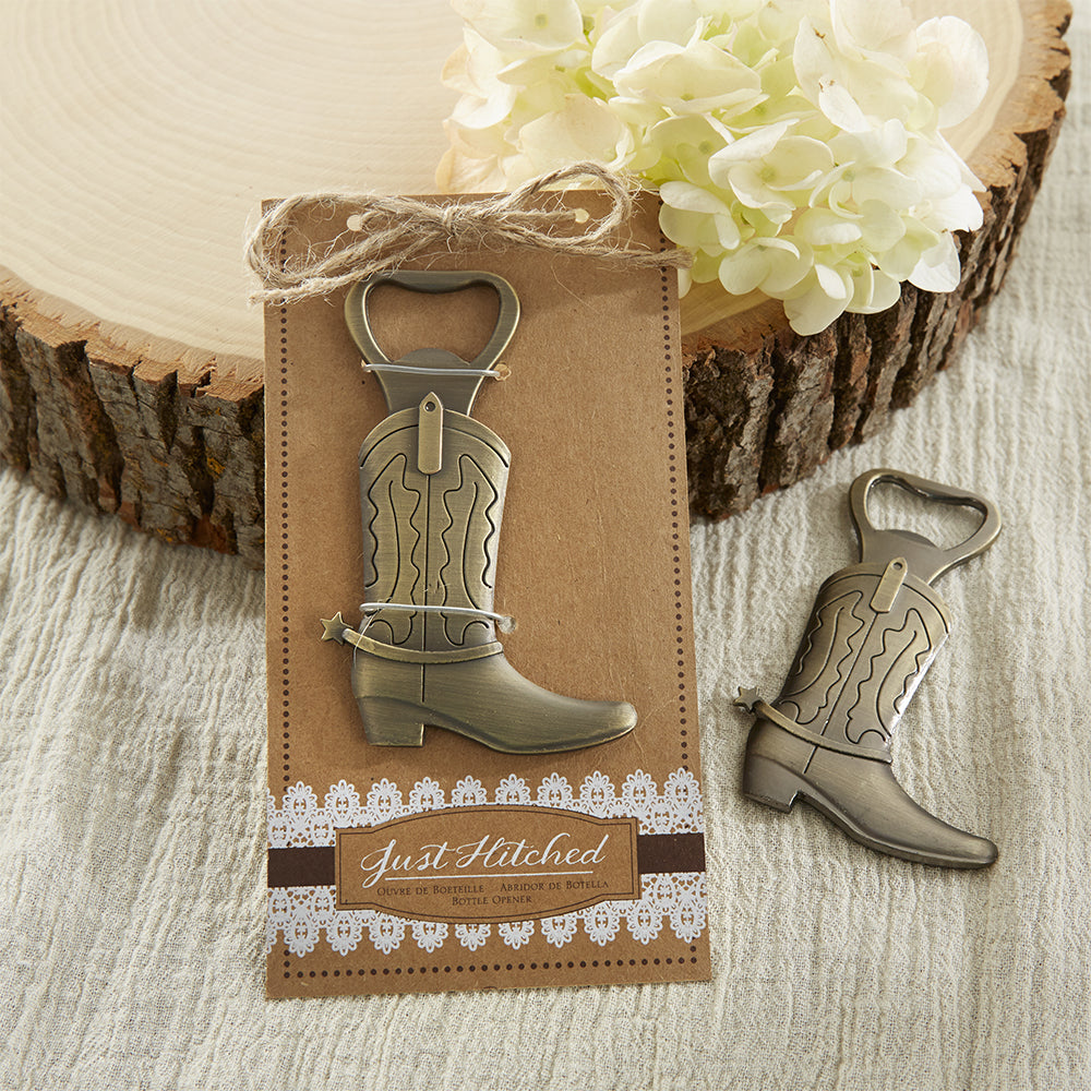Just Hitched Cowboy Boot Bottle Opener