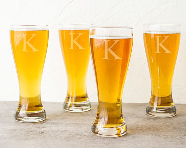Personalized 20 oz. Pilsner Glass Set (Set of 4)