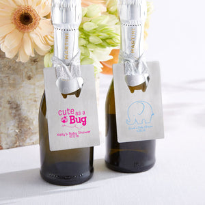 Load image into Gallery viewer, Personalized Silver Credit Card Bottle Opener - Baby Shower Favor