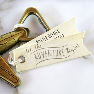 Let the Adventure Begin Airplane Bottle Opener