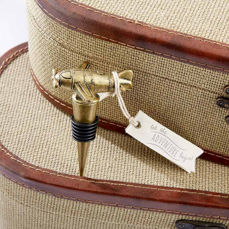 Let the Adventure Begin Airplane Bottle Stopper