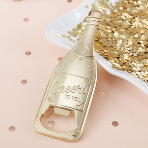 Load image into Gallery viewer, Gold Champagne Shaped Bottle Opener