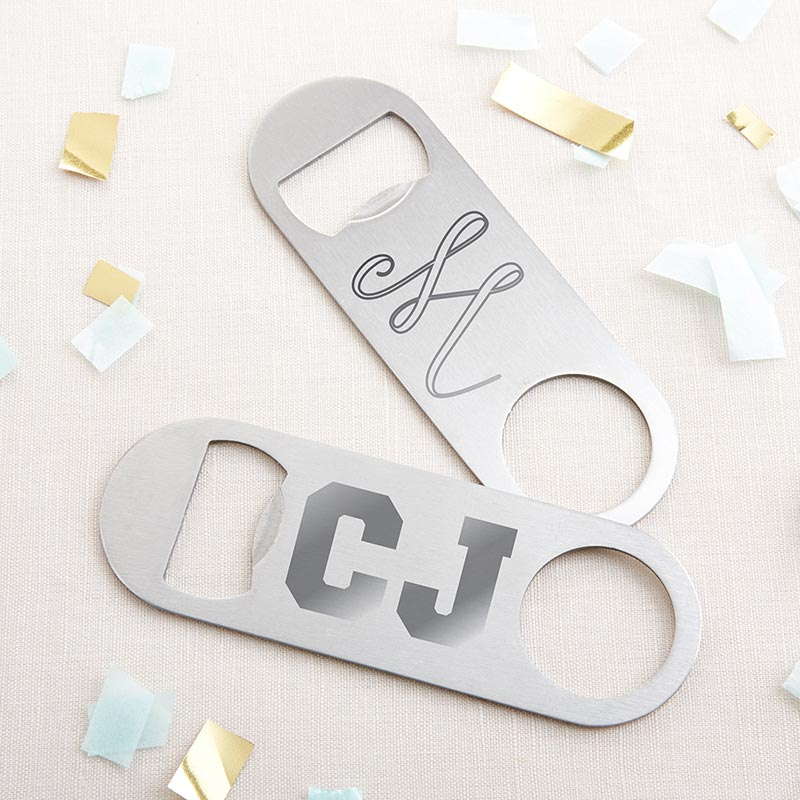 Personalized Engraved Silver Oblong Bottle Opener