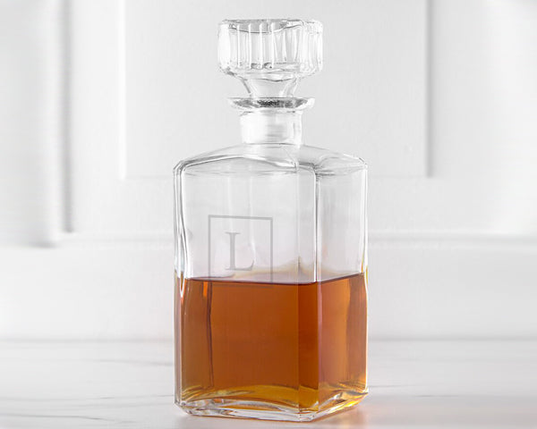 Personalized 34 oz. Glass Decanter | Groomsmen Gifts
