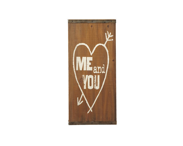 Me & You Wood Wall Decoration | My Wedding Favors