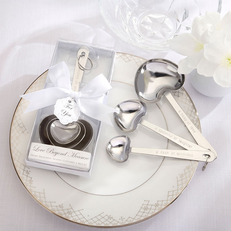 "Simply Elegant ""Love Beyond Measure"" Heart Shaped Measuring Spoons"