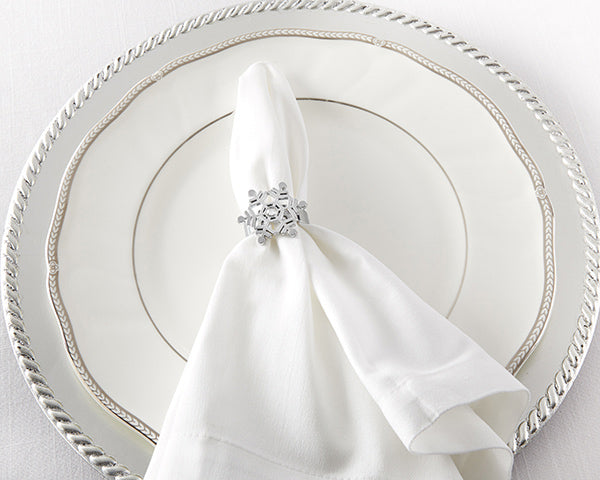 Load image into Gallery viewer, Sparkling Snowflake Napkin Ring (Set of 4)