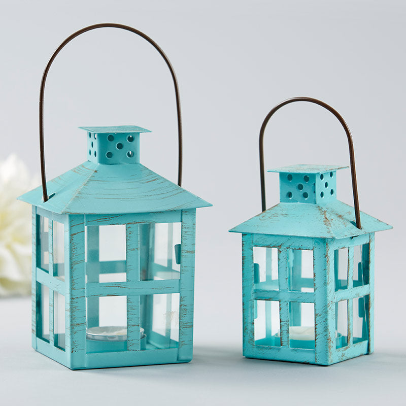 Load image into Gallery viewer, Vintage Blue Distressed Lantern - Medium