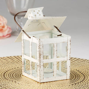 Load image into Gallery viewer, Vintage White Distressed Lantern - Medium
