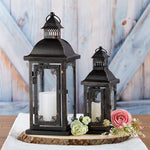 Antique Black Ornate Lantern - Small