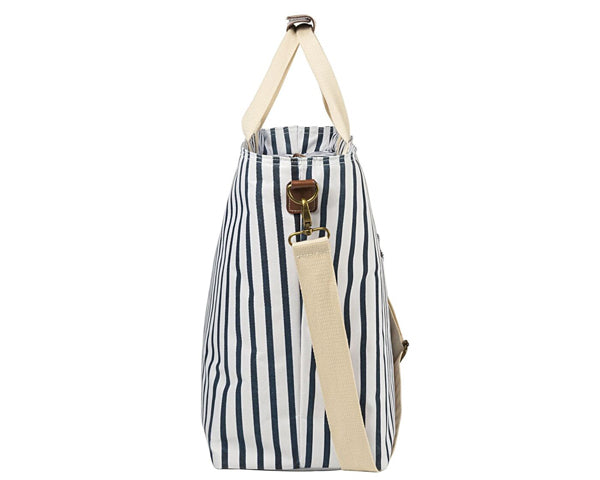 Personalized Striped Cooler Tote