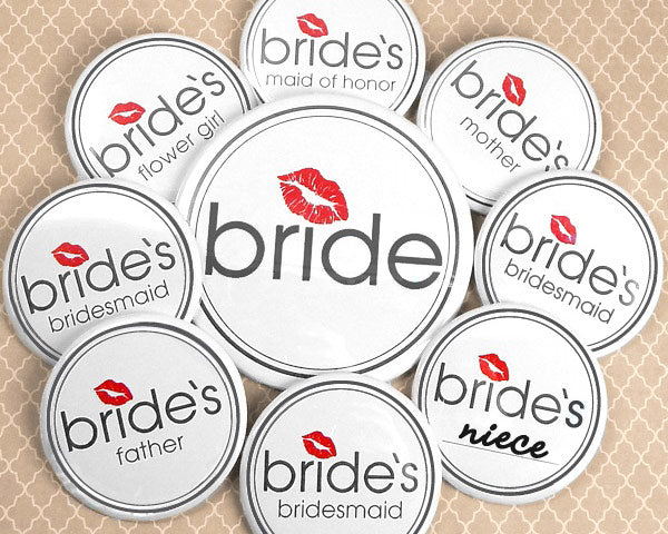 Load image into Gallery viewer, Bride's Bridal Party Buttons