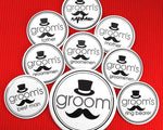 Groom's Bridal Party Buttons (Set of 12)