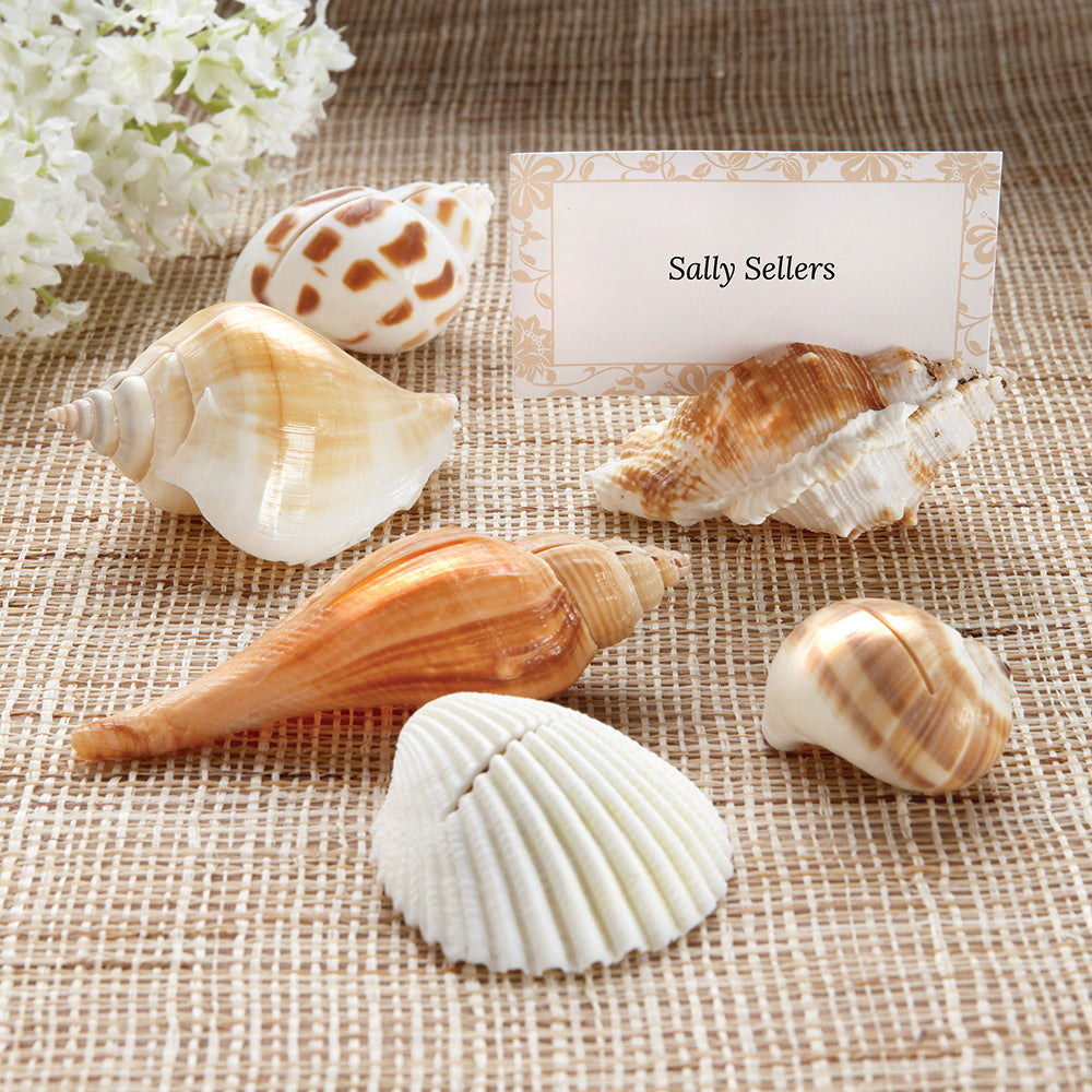 Shells by the Sea Authentic Shell Place Card Holder with Matching Place Cards
