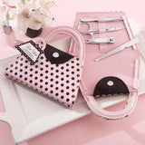 Pink Polka Dot Purse Manicure Set - Bridal Shower Favor