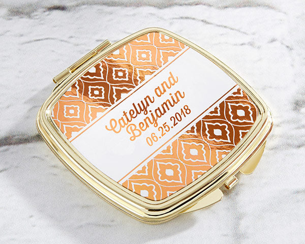 Personalized Copper Foil Gold Compact