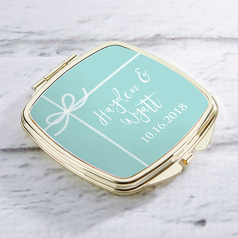 Personalized Something Blue Gold Compact
