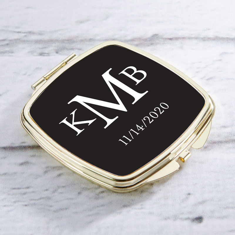 Personalized Wedding Gold Compact