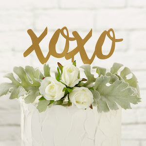 Load image into Gallery viewer, Gold XOXO Cake Topper