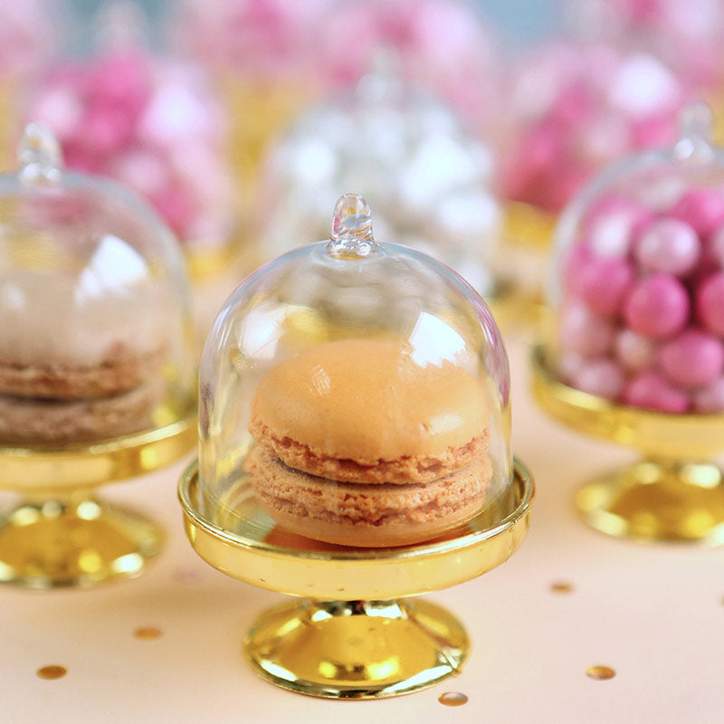 Small Bell Jar with Gold Base (Set of 12)