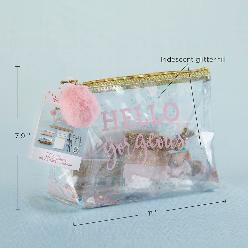Load image into Gallery viewer, Hello Gorgeous Glitter Bag Survival Kit