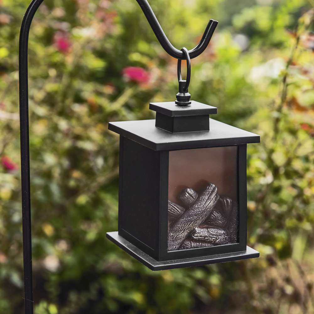 Tokyo LED Vintage Decorative Black Lantern (Set of 2)