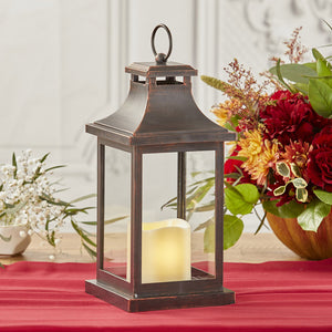 Load image into Gallery viewer, Hampton LED Vintage Decorative Copper Lantern