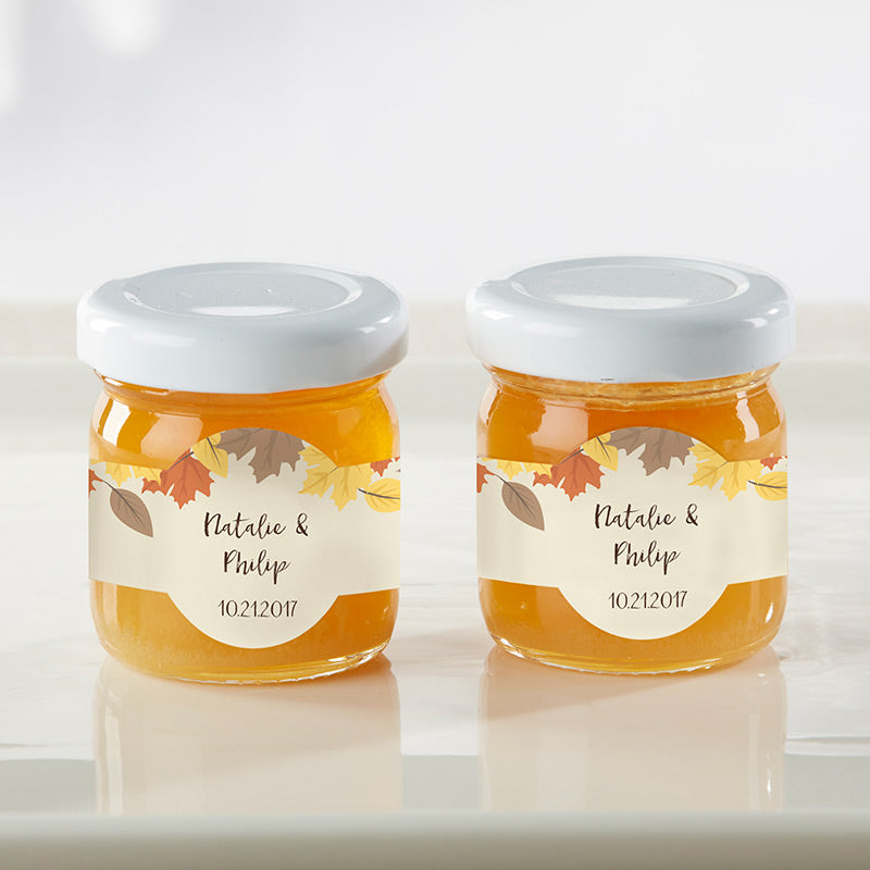 Personalized Fall Leaves Clover Honey (Set of 12)