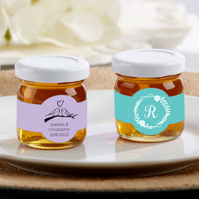 Personalized Wedding 1.75 oz. Clover Honey (Set of 12)