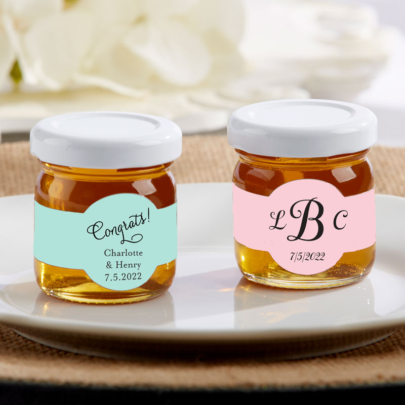 Personalized Wedding Honey Jar (Set of 12)