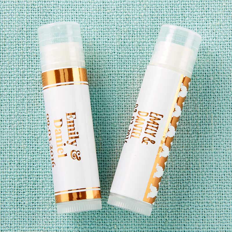 Personalized Copper Foil Lip Balm (Set of 12)