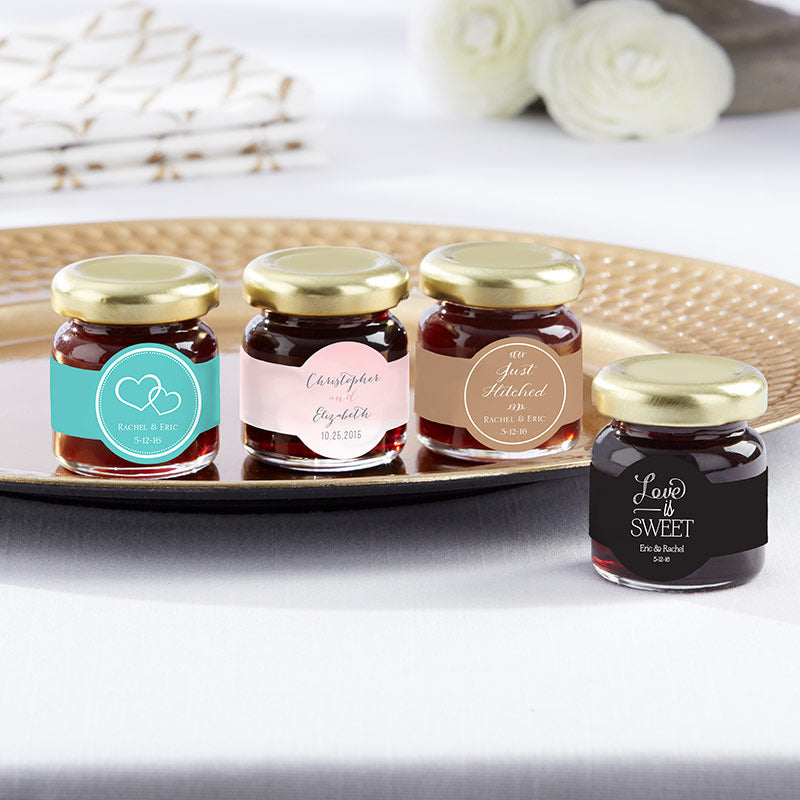 Personalized Wedding and Bridal Shower Strawberry Jam (Set of 12)