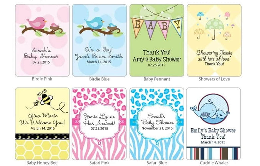 Personalized Baby Cosmopolitan Favors (Many Designs Available)