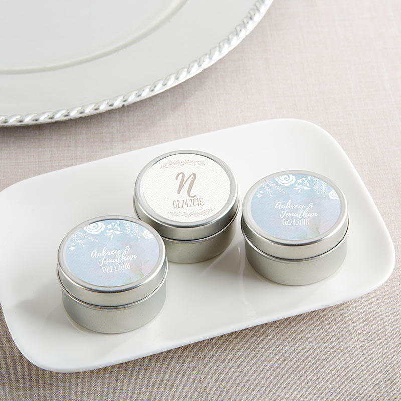 Personalized Ethereal Travel Candle Tin