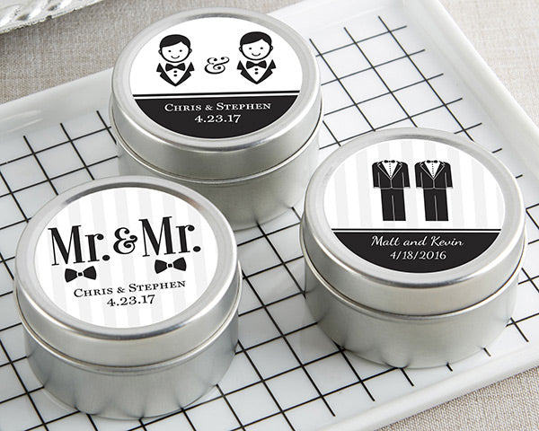 Personalized Mr. & Mr. Travel Candle