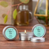 Personalized Wedding Travel Candle