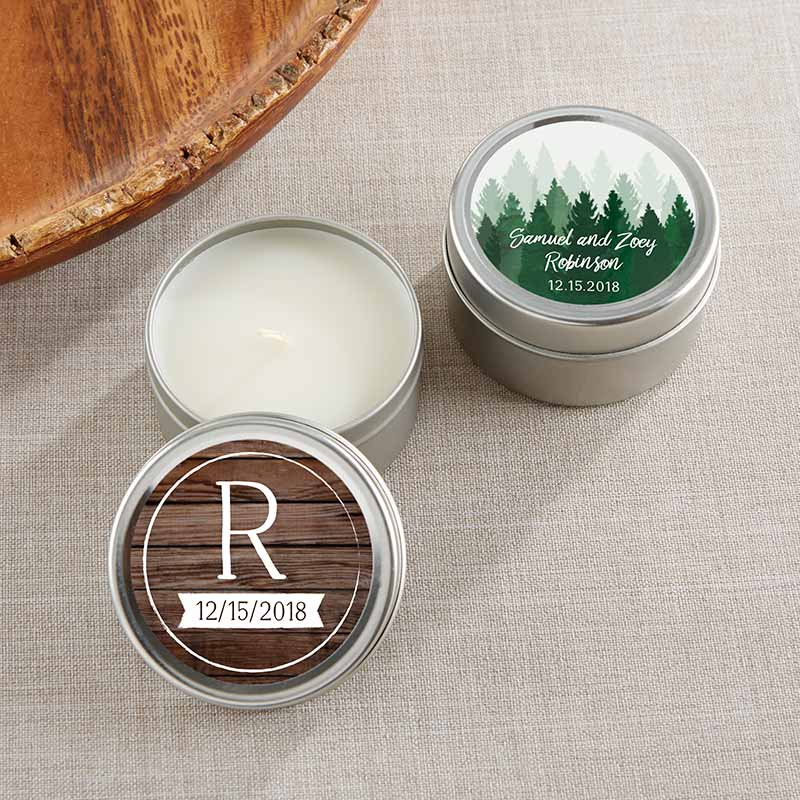 Personalized Winter Travel Candle