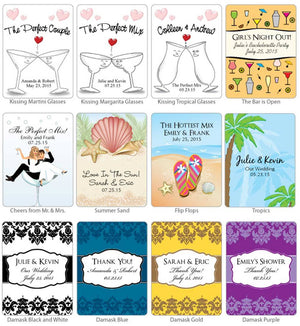 Personalized Cosmopolitan Favors (Many Designs Available)