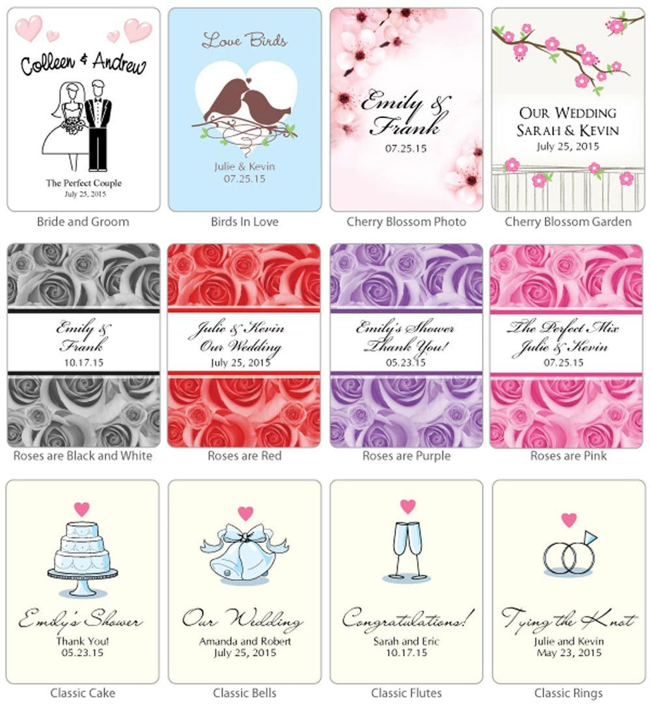 Personalized Wedding Margarita Favors (Many Designs Available)