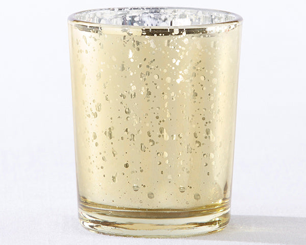 Gold Mercury Glass Tealight Holder (Set of 4)