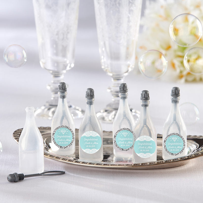 Load image into Gallery viewer, Personalized Bubble Bottles - Something Blue (Set of 24)