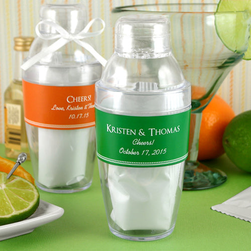 Personalized Cocktail Shaker with  Margarita Mix | My Wedding Favors