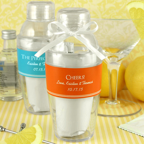 Personalized Cocktail Shaker with Lemon Drop Mix | My Wedding Favors