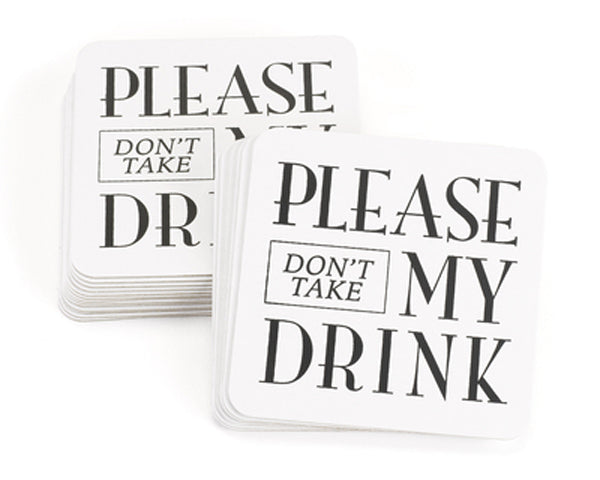 Don't Take My Drink Coasters (Set of 25) | My Wedding Favors