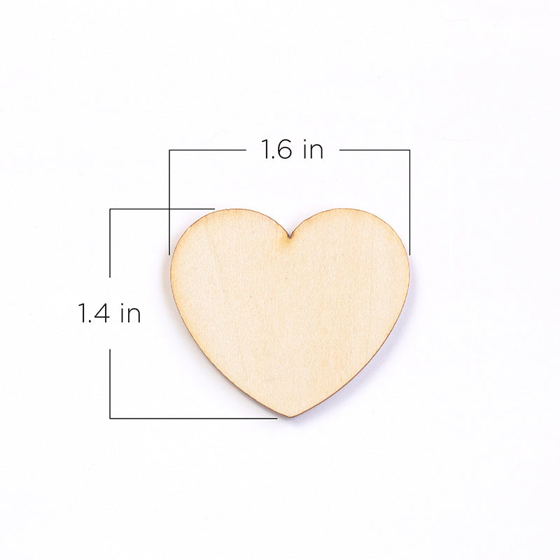 Wooden Hearts for Guest Book Alternative (Set of 75)