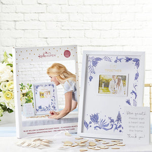 Blue Willow Wedding Guest Book Alternative