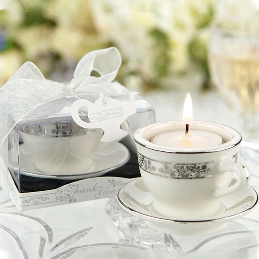 Teacups & Tea Lights Miniature Porcelain Tea Light Holder