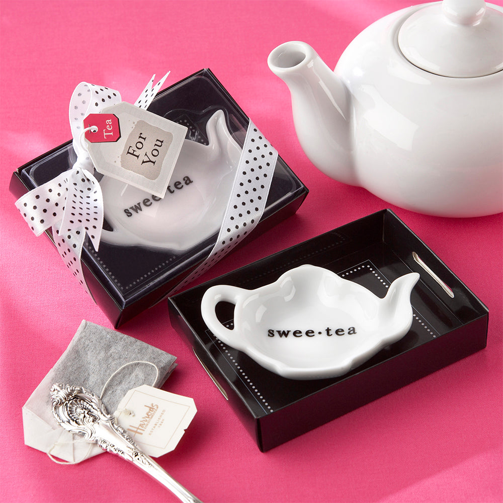 Swee-Tea Ceramic Tea-Bag Caddy - Bridal Shower Favors