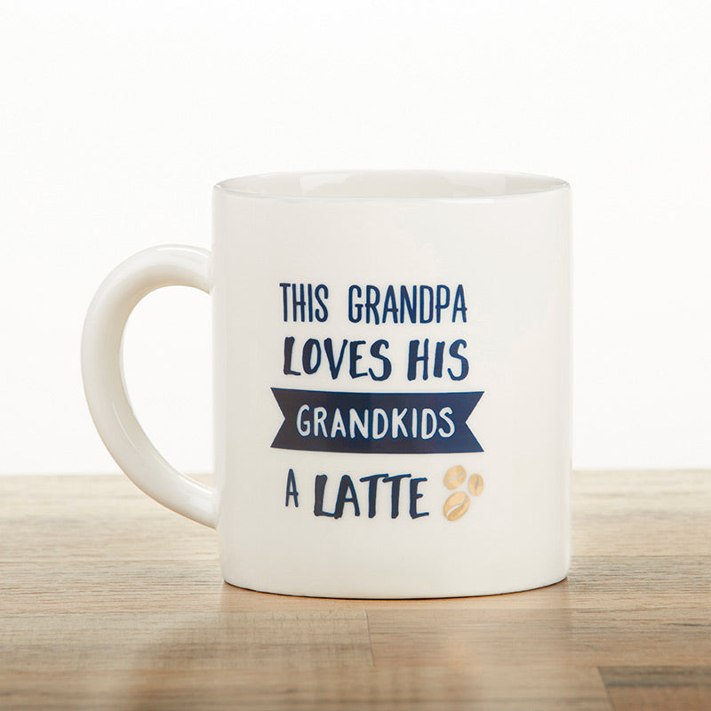 Grandpa Latte 16 oz. White Coffee Mug