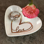 Heart Shaped Trinket Dish - Small